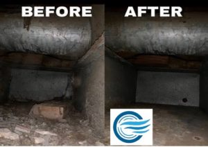 Air Duct Cleaning Before After Photo
