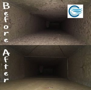 Photo Before After Air Duct Cleaning